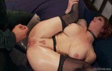 MILF trainee anal fucked and jizzed