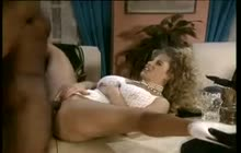 Interracial classic orgy with Peter North and Sean Michaels