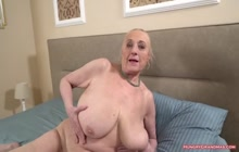 Busty granny enjoys a big hard cock in her pussy