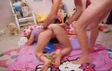 Horny little teen slammed like a whore