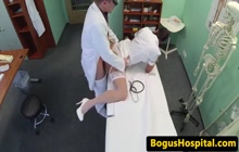 Foxy nurse fucking with doctor in his office