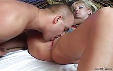 Sexy blonde MILF gets fucked hardcore by a big cock