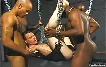 Three black studs fuck sexy white gay with Tom Moore, Da Poka Man, Brandon Tamarin, Chris Gil, Chris Young, Excite and Soloman Gregory