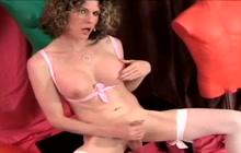 Delia Delions plays with cock