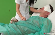 Blowjob by big ass nurse