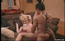Blonde MILF Barrett Moore gets banged deep in the ass with Guy Disilva