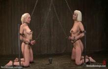 Blonde sluts in extreme device bondage
