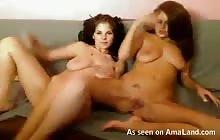 Two lesbian GFs having fun on webcam