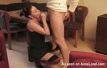 Kinky amateur couple fucking on the sofa
