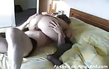 Hungry husband eating wife's pussy