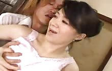 Busty Japanese housewife gets fucked hard