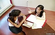 Ebony and Asian girls in dirty action with Alexa Von Tess and Almond Tease