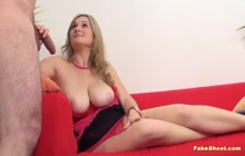 Busty blonde lady gets her pussy fucked