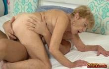 Sexy granny fucks really hard with big hard cock