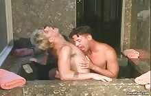 Blonde stud fucks his gay friend with Mark Cirriano and Deacon Frost