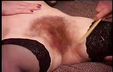 Slut with hairy bush