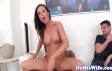 Cucolding busty wife takes BBC