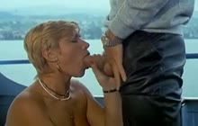 Classic Blonde MILF Fucks On The Boat
