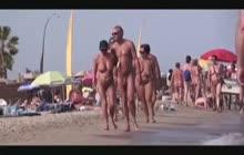 Amateur nude beach action
