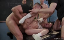 Bound student dp fucked in classroom
