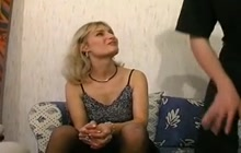 French cougar in tights gets her asshole fucked