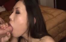 Asian babe sucking and fucking