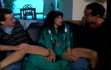 Hot Asian Cumisha Amado gets fucked by Dave Hardman and Guy DaSilva