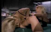 Lesbian Strapon Fuck In The Kitchen