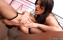 Brunette sluts Jane and Kate get anal fucked by two dicks with Joachim Kessef and Vadim
