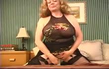 Horny mature Kitten Natividad masturbates with a dildo