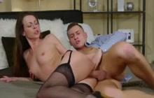 Czech cougar Caroline Ardolino fucked and creamed