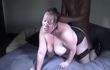 Nice interracial fuck with sexy BBW
