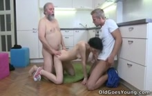 Old perv does skinny Czech Karina