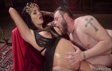 Pregnant femdom makes dude lick her