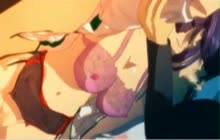 Saeko Busujima busty hentai gf gets fucked