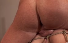 Tied up slut fucked in the ass
