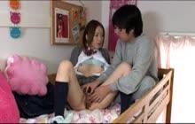 Japanese Schoolgirls fucked in dorm room