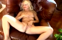 Horny Crystal Klein masturbates in compilation video
