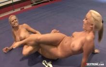 Blonde Lesbian Wrestling Sluts